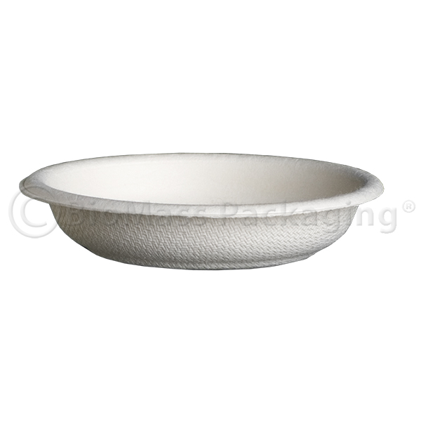 BagasseWare Sample/Dipping Plate White