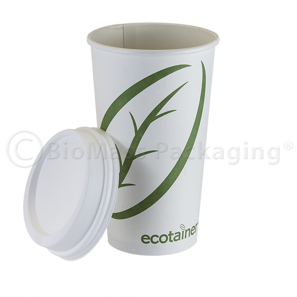 ecotainer Stock Print Hot Cup with Lid
