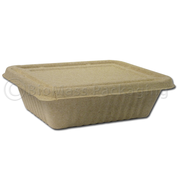 BagasseWare-Wheat #3 32-oz Box