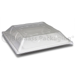 "BagasseWare Diamond Collection 10"" Square Plate with Lid"