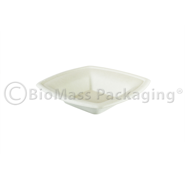 BagasseWare Diamond Collection 12-oz Square Bowl