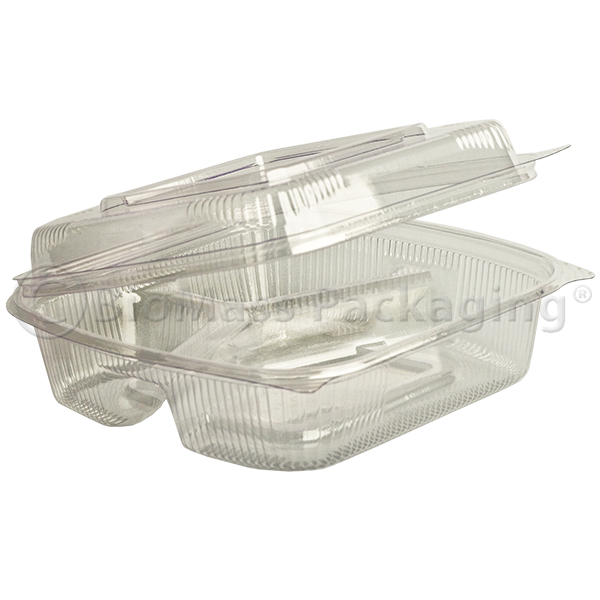 SeaShell Clear ClamShells 3-Compartment 8x8x2.5