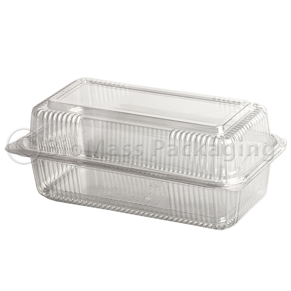 SeaShell Clear ClamShells Oblong Loaf 9x5x3