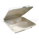Bioplastic Clamshell 3-Compartment 9.5x9.5x2.5