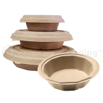 BagasseWare-Wheat Octagon Bowls