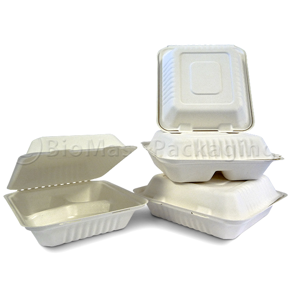 BagasseWare Ingeo Lined Clamshell
