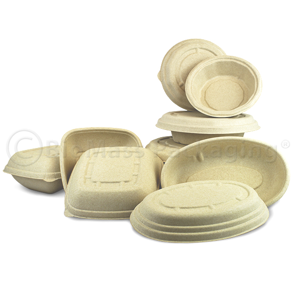 BagasseWare-Wheat Bowls with Lids