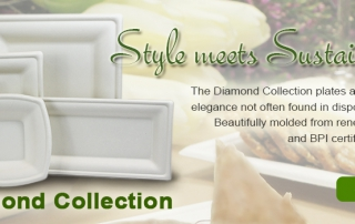 BagasseWare Diamond Collection