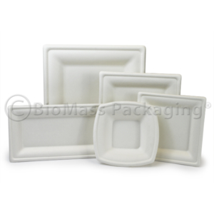 BagasseWare Diamond Collection Tableware, Plates and Bowls, BioMass Packaging