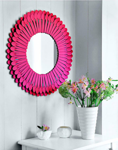 Mirror with spoon