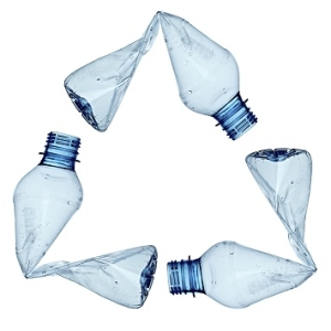 Recycle Symbol Made from Bottles