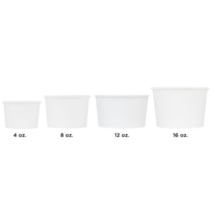 Karat Earth by Lollicup White Soup Container Sizes