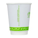 Karat Earth by Lollicup 12oz double wall hot cup back