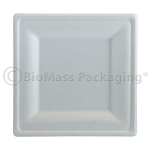"""BagasseWare Diamond Collection 10"""" Square Plate 357-DP10 BioMass Packaging"""