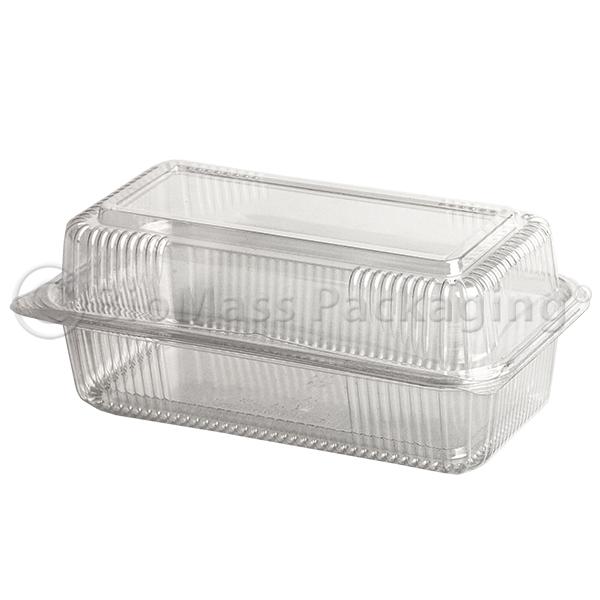 SeaShell Clear ClamShells Oblong Loaf 9x5x3
