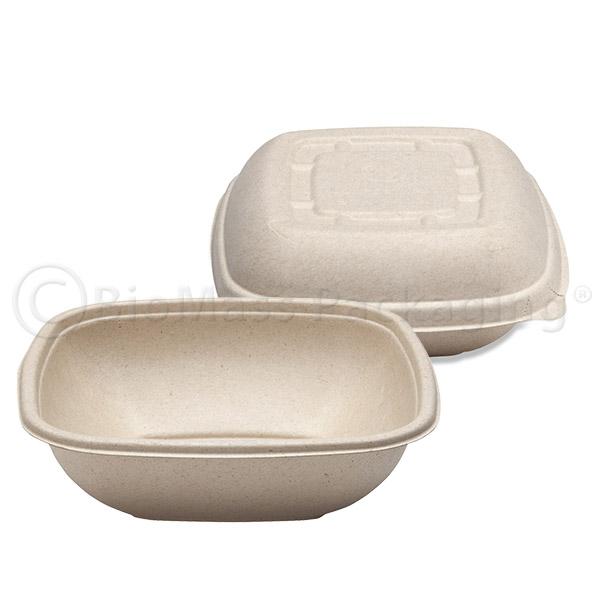 BagasseWare-Wheat Square Bowls
