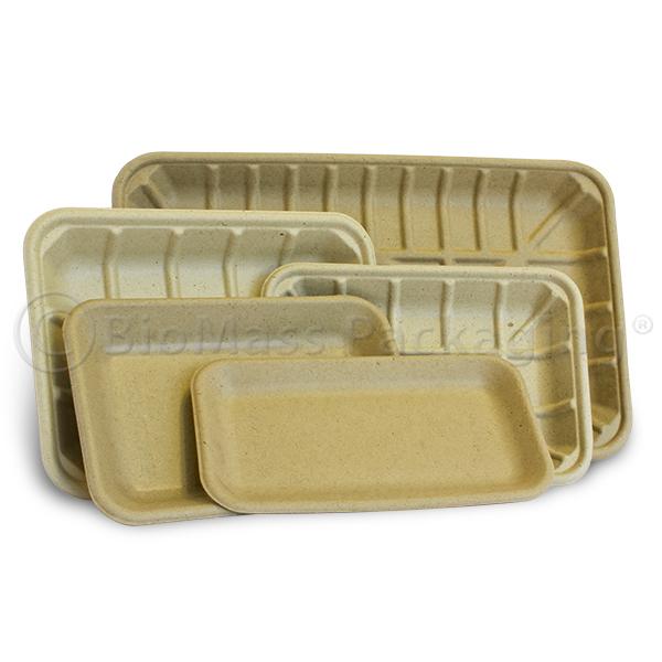 BagasseWare-Bulrush Supermarket Trays
