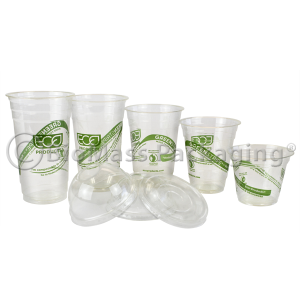 EcoProducts Green Stripe Cold Cups