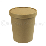 Kraft Soup Container with lid on