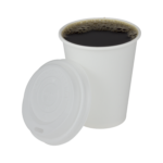 Karat Earth White 8 oz Hot Cup with Coffee